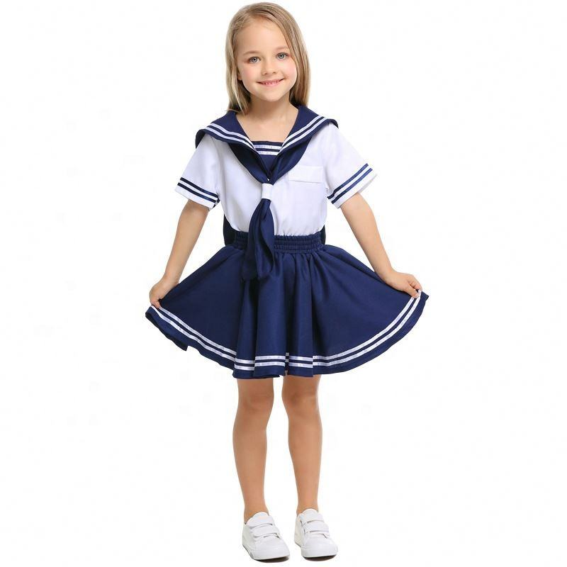 Children's Navy Sailor School Uniform Kindergarten Sailor Soldier Cosplay Clothes for Boys And Girls