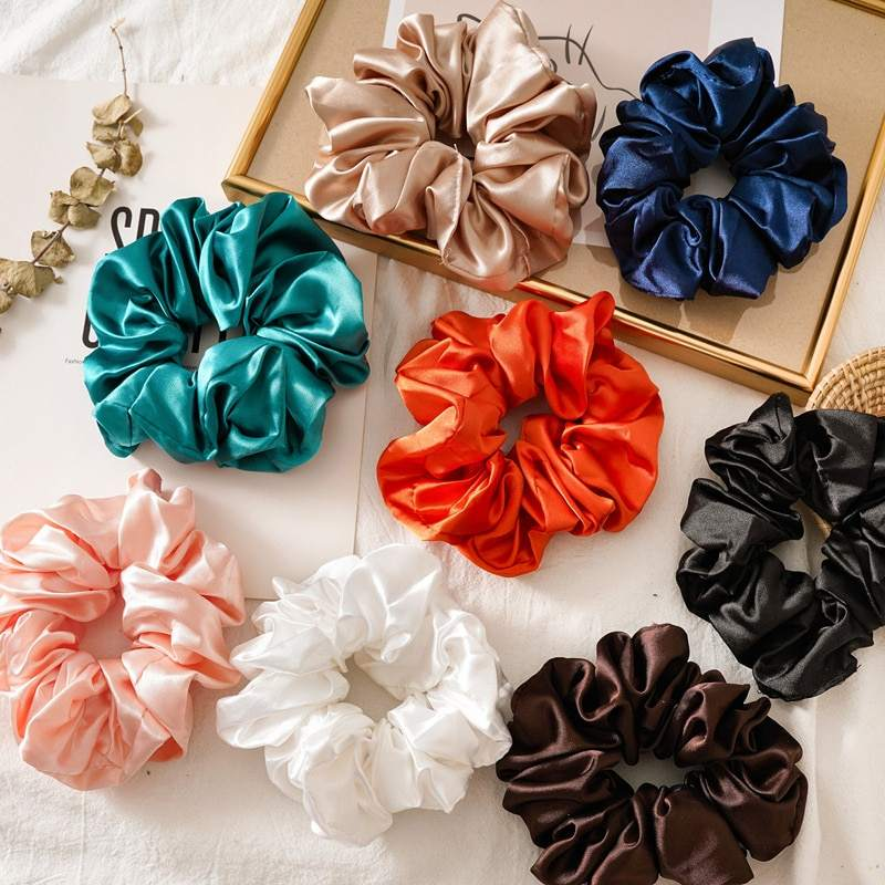 Factory directly custom 100% 6A silk scrunchies