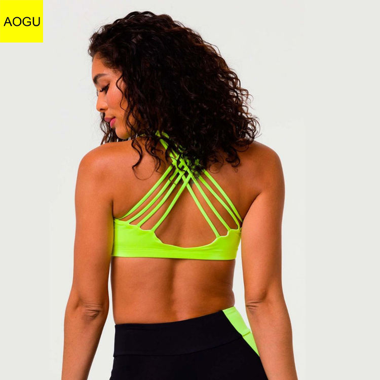 2020 Apparel Nylon Spandex Women Removable Padding bra Fitness Training Womens Sports Bra
