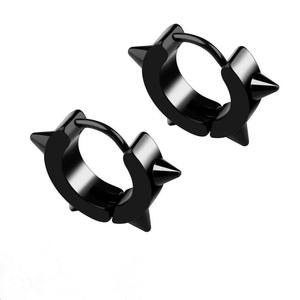 new style earrings stainless steel sawtooth ring boys earrings studs