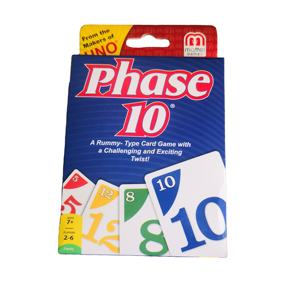 PHASE 10 GAME CARDS