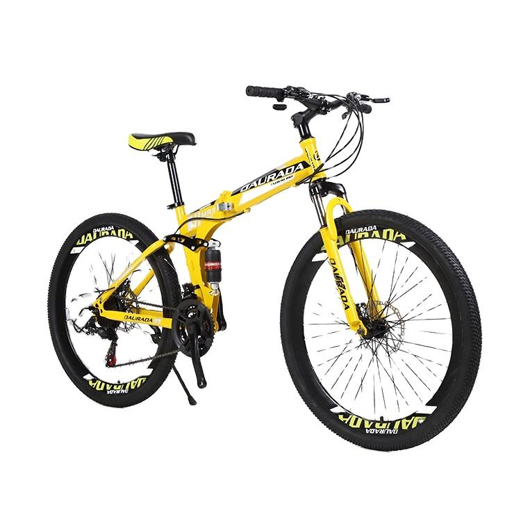 "2019 OEM ODM mountain bicycle 21/24/27 speed 26"" inch folding bike high carbon steel frame bicycle"