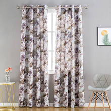 Luxury Modern Shade Petal Blackout Curtains for Kids Living Room the Bedroom Window Treatments Drapes Panel Ready Made