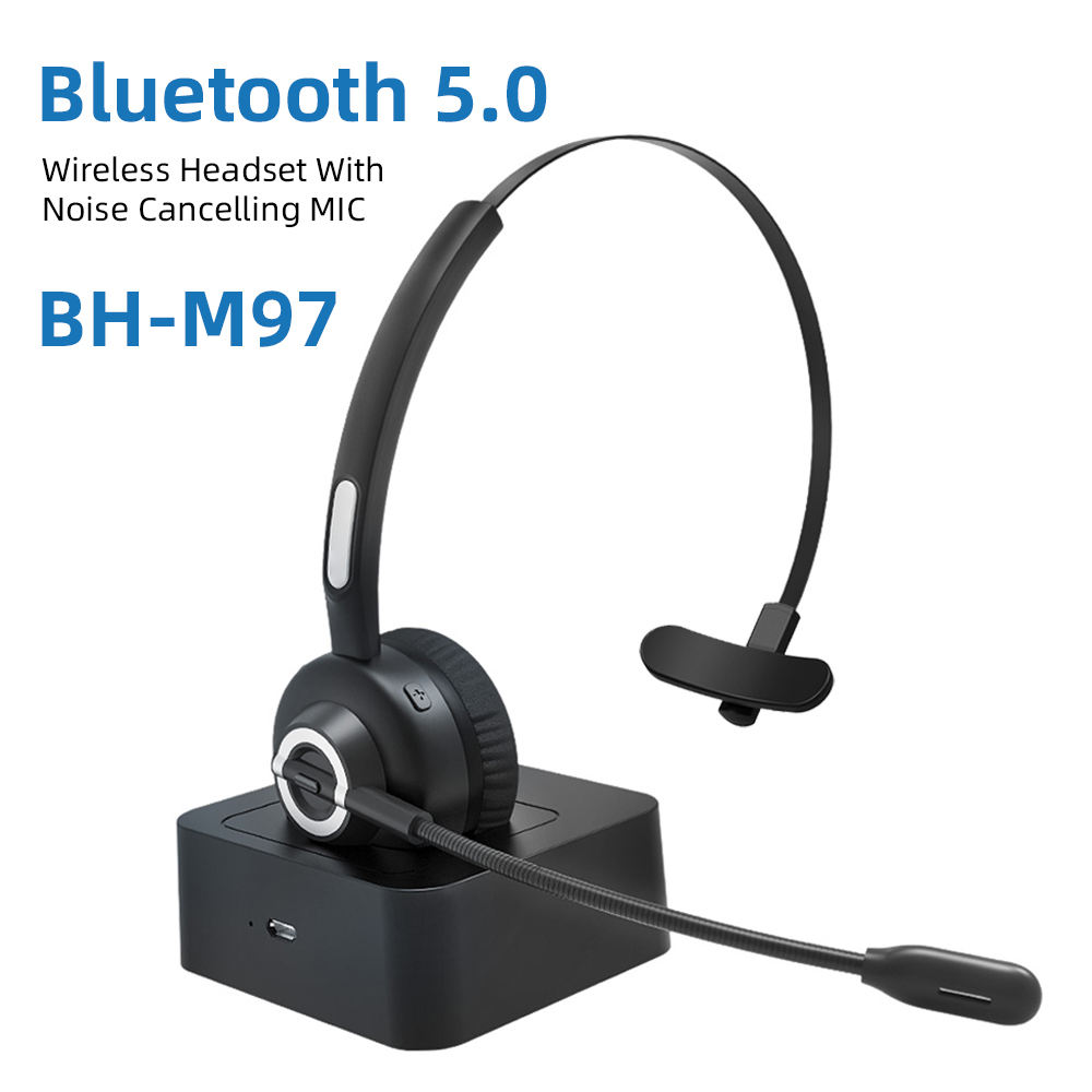 Single ear wireless Bluetooth 5.0 headset supports a variety of Bluetooth protocols and is compatible with Android and apple