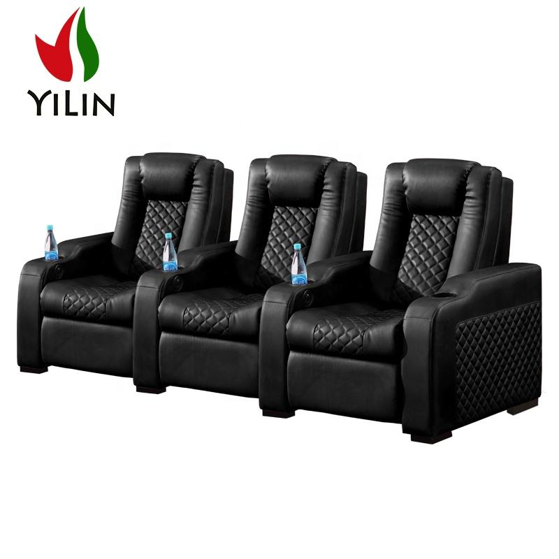 Electric Power Recliner Chairs luxurious Vip Auditorium Chairs 3 Position Home Theater Seating For Cinema Theatre