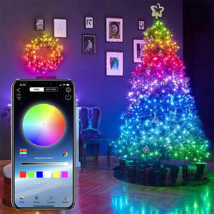 Waterproof Music Sync Smart RGB WIFI APP Control LED Copper Wire String Light Christmas Light for tree outdoor Decoration