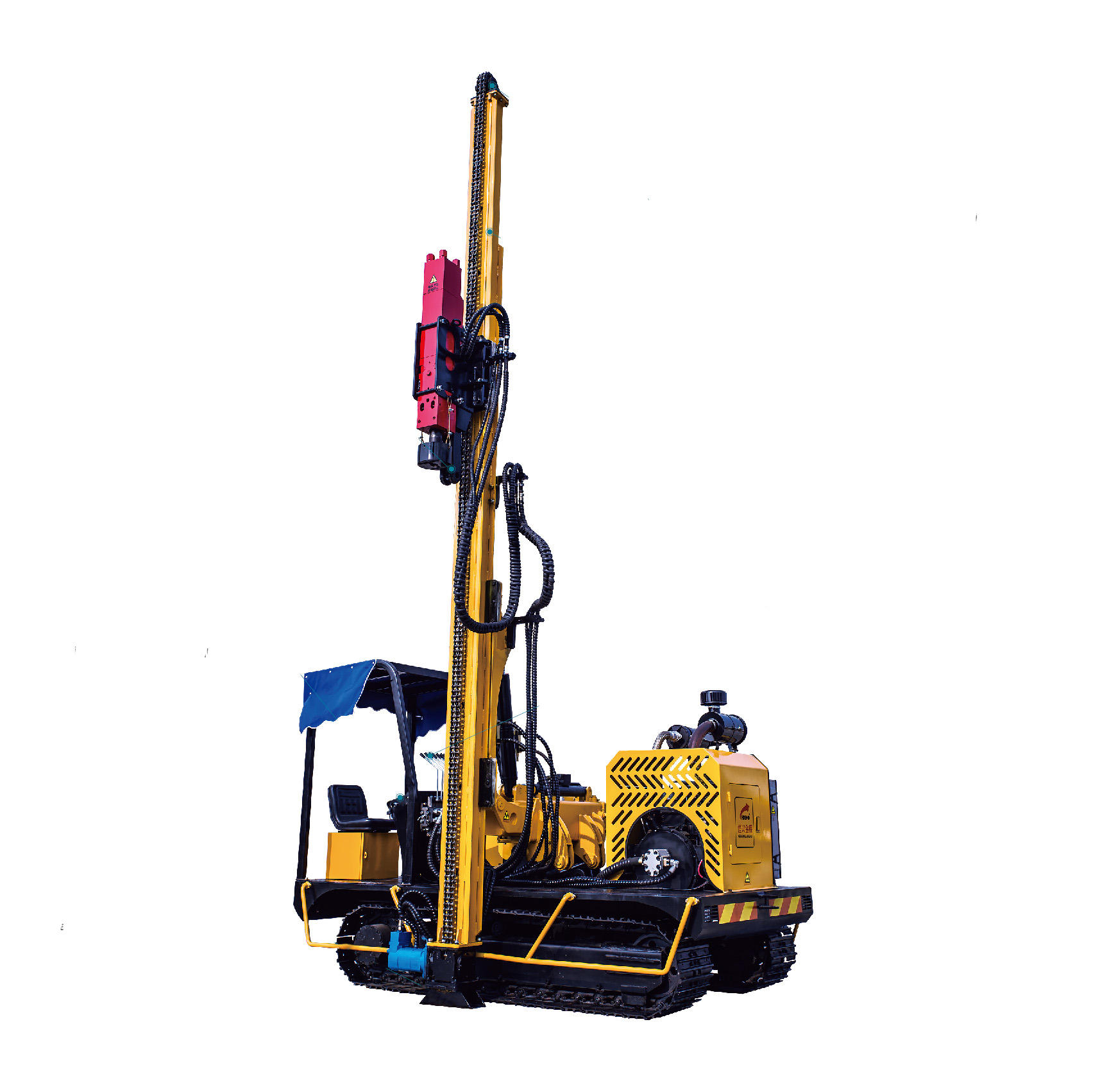 solar post driver hydraulic screw pile driver