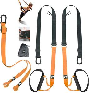 Wellshow Sport Bodyweight Resistance Trainer Kit Fitness Resistance Trainer Set Suspension Trainer Straps Bundle Training