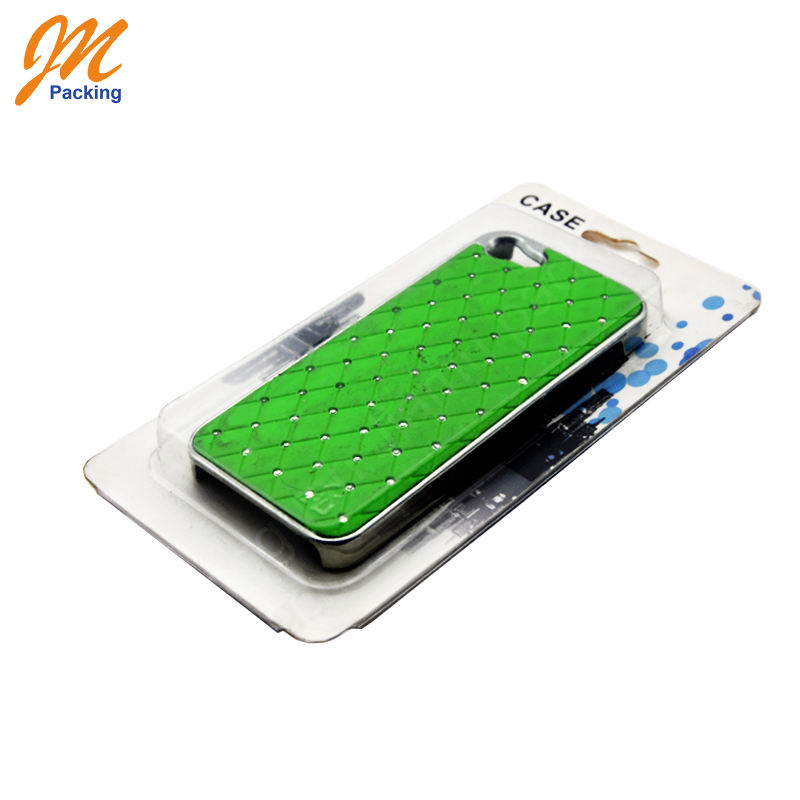 Custom plastic blister mobile phone case packaging with cards