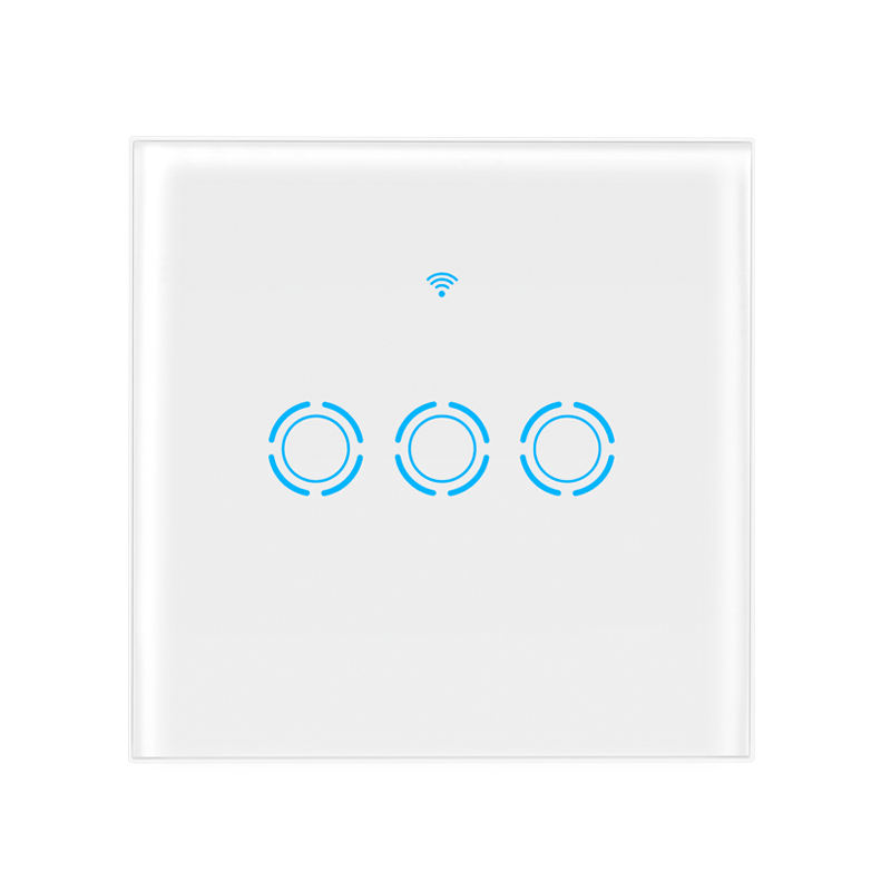 SMART Lampu Switch Touch Switch Kompatibel dengan Alexa dan Google Wifi Rumah Dinding Switch 3 Gang 3 WAY Panel sentuh