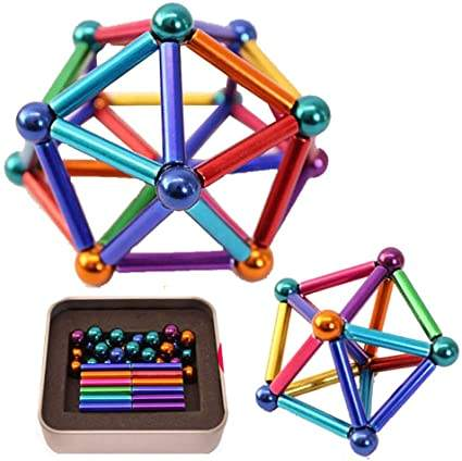 DIY Magnet building blocks flexible magnetic sticks and balls
