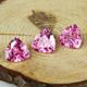 Wholesale high quality trillion cut pink cubic zircon cz gemstone for jewelry making