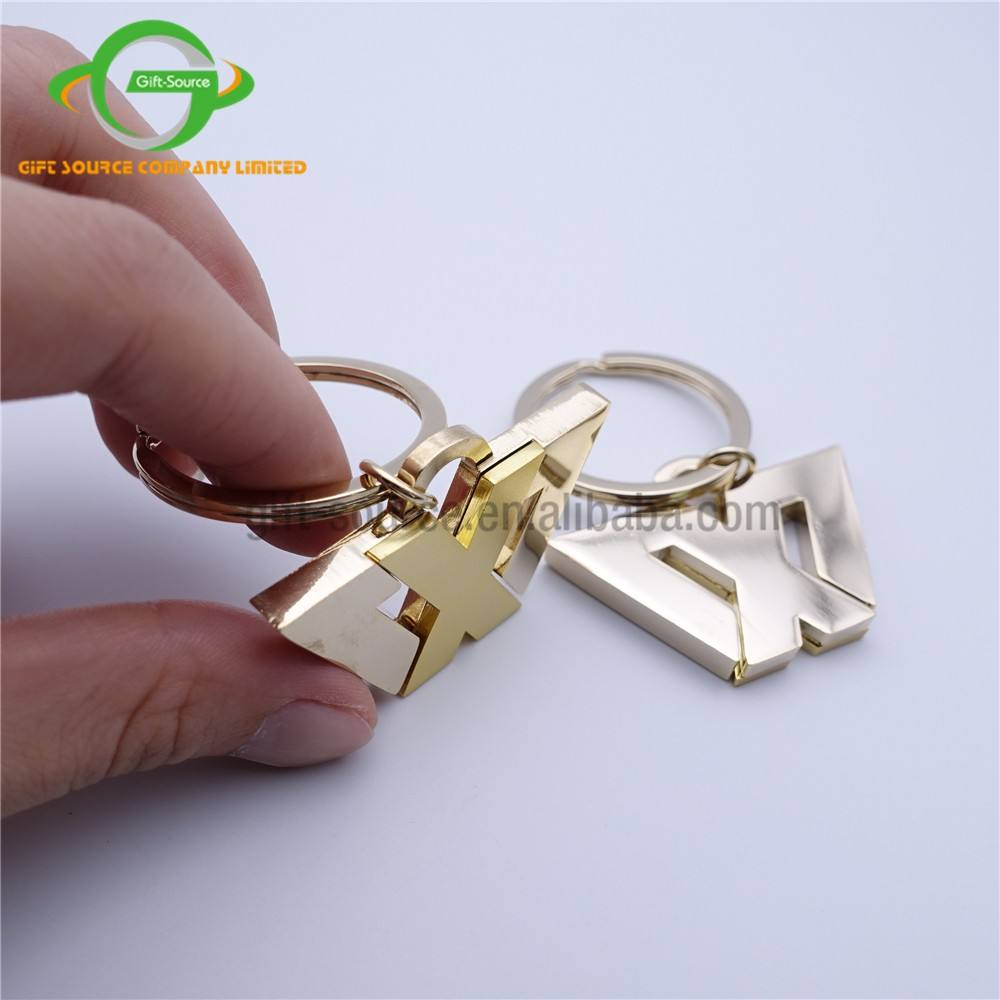 Hot Deal [ Letter ] Keychains Keychain Fashion Innovative Gifts Double Plated Gold Letter X-man Movie Metal Keychain/stainless Steel Key Chain
