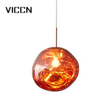 Modern indoor decorative lighting hanging melt iron Lava e27 pendant lamp