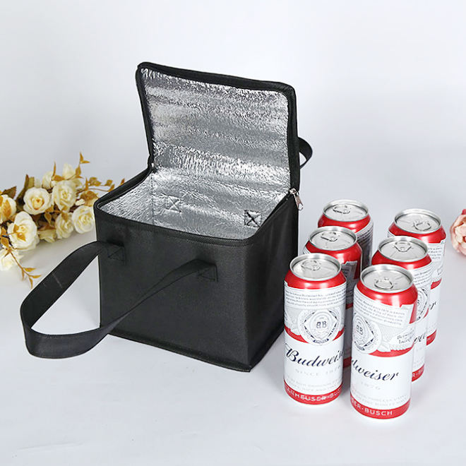 Wholesale durable promotional 6 can pack bottle cooler bag