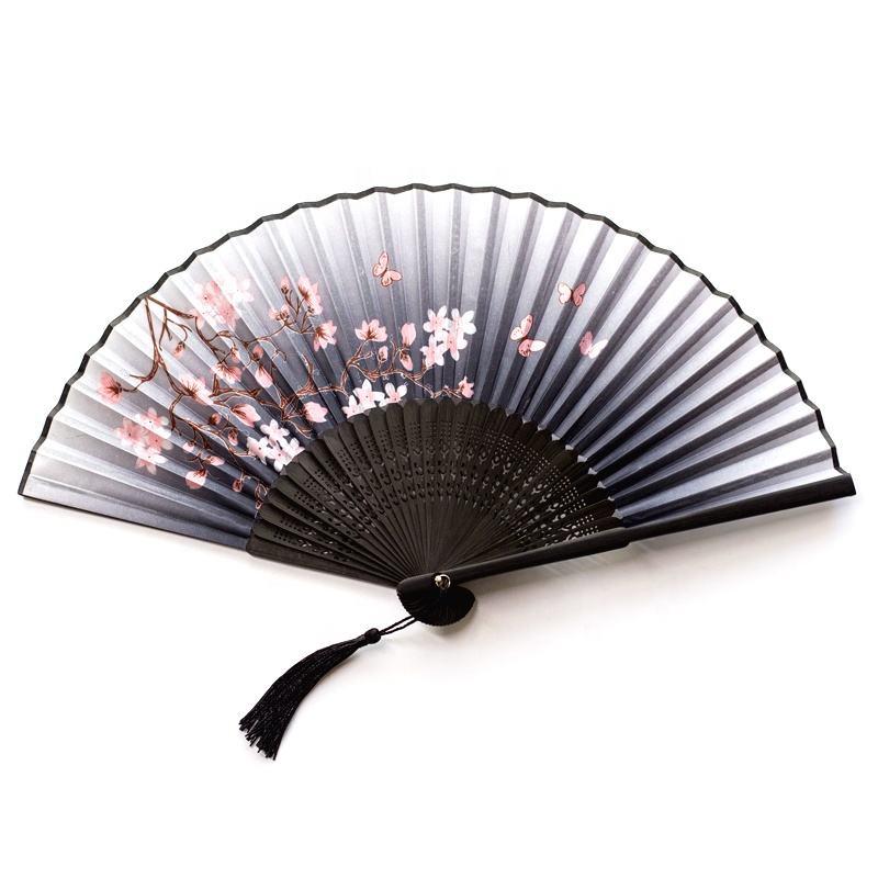 Классический китайский стиль бамбуковая рамка Slik ручной вентилятор