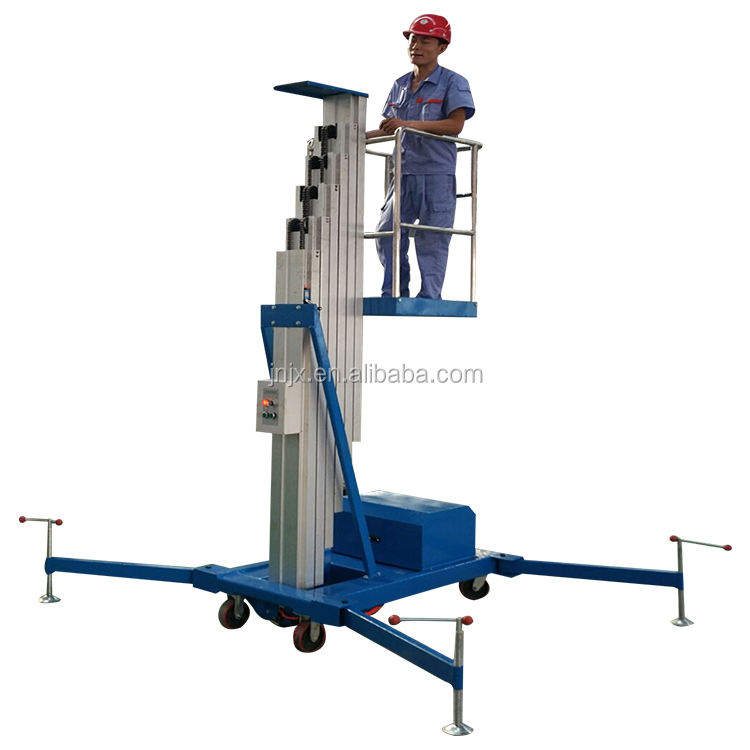 Small Aerial Mobile One Man Lift/home Cleaning Elevator Aluminum Lift/Aerial Personal Lift ladder