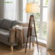 Lamp Floor High End Quality Nordic Style Minimalist Design Living Room Room Hotel Decoration Tripod Wood Table Lamp Floor Lamp Stand Lamp