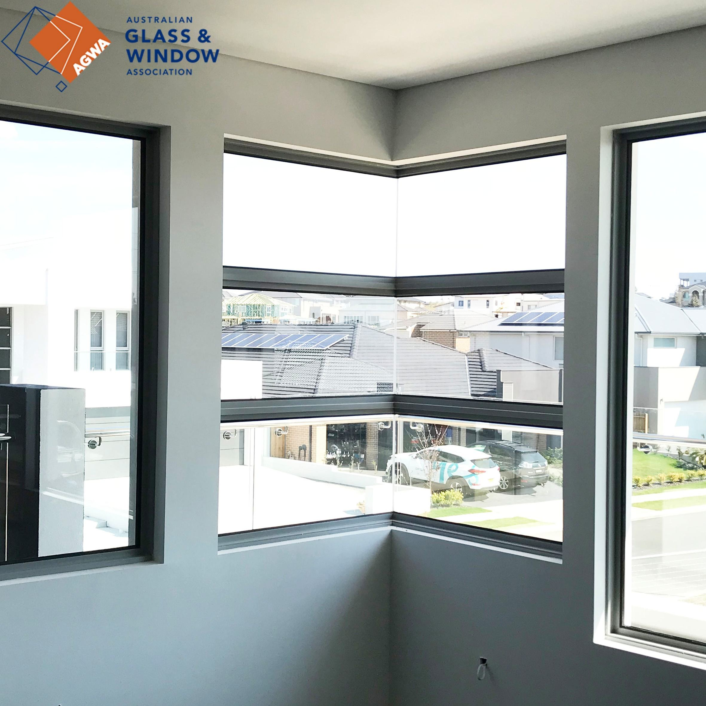 French aluminum double fixed window panoramic windows