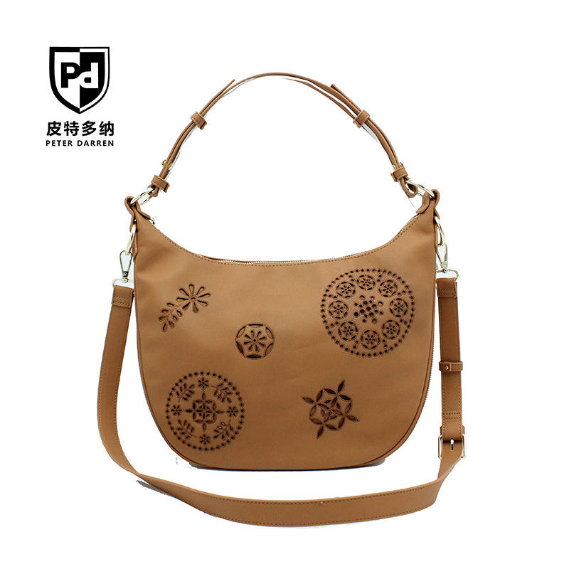 PU Leather Handbags Ethnic Style Crossbody Shoulder Messenger Bag for Women