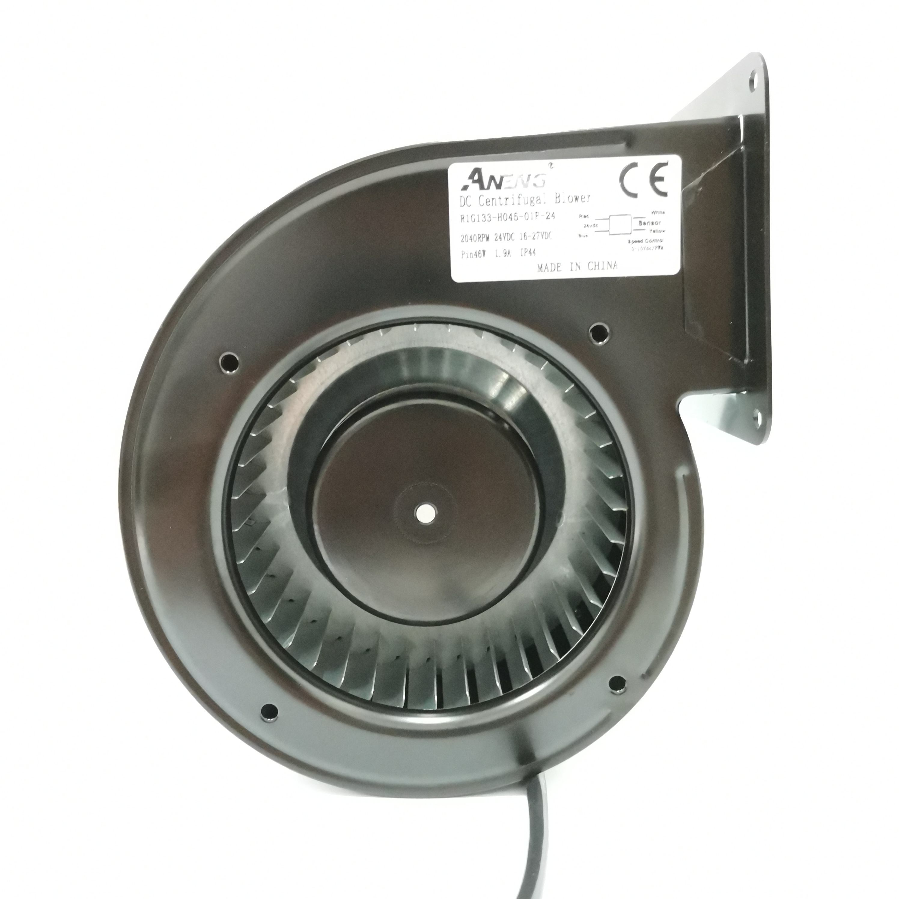 133mm single inlet small centrifugal 12v 24v dc blower fan for air blowing machine cooling