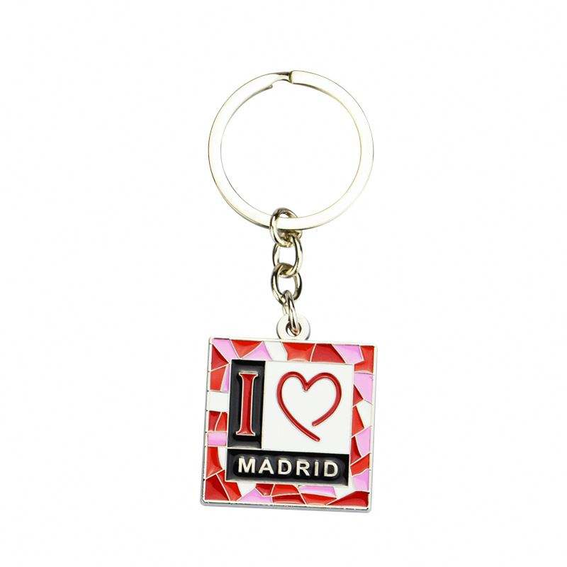 Manufacture Promotion OEM Alloy Key Holder Colourful Metal Chain