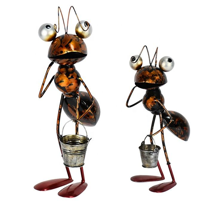 Hot-Selling Garden Animal Cute Style Metal Big Eyes Ant For Home Decoration