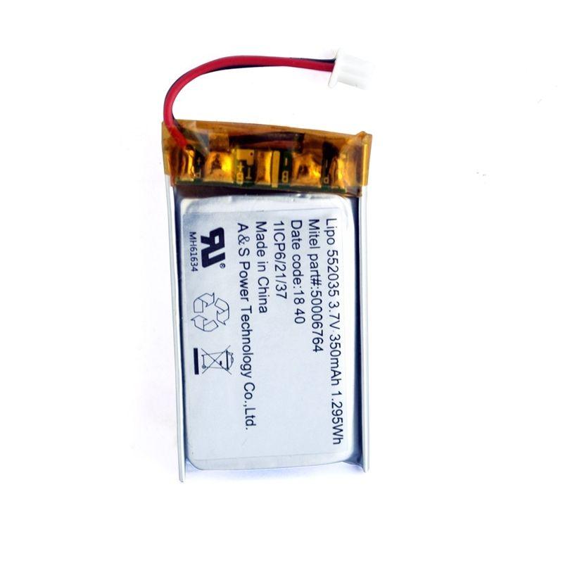 UL Chứng <span class=keywords><strong>Nh</strong></span>ận Có Thể Sạc Lại Li ion Battery 3.7 v 552035 350 mah <span class=keywords><strong>Pin</strong></span> Lithium Polymer cho GPS/Bluetooth Loa <span class=keywords><strong>Pin</strong></span>