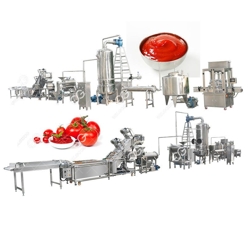 Small Quantity Automatic Food Tomatoes Sweet Paste Machine Tomato Paste Ketchup Making Production Line