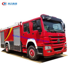 10000 liter howo water foam fire engine trucks