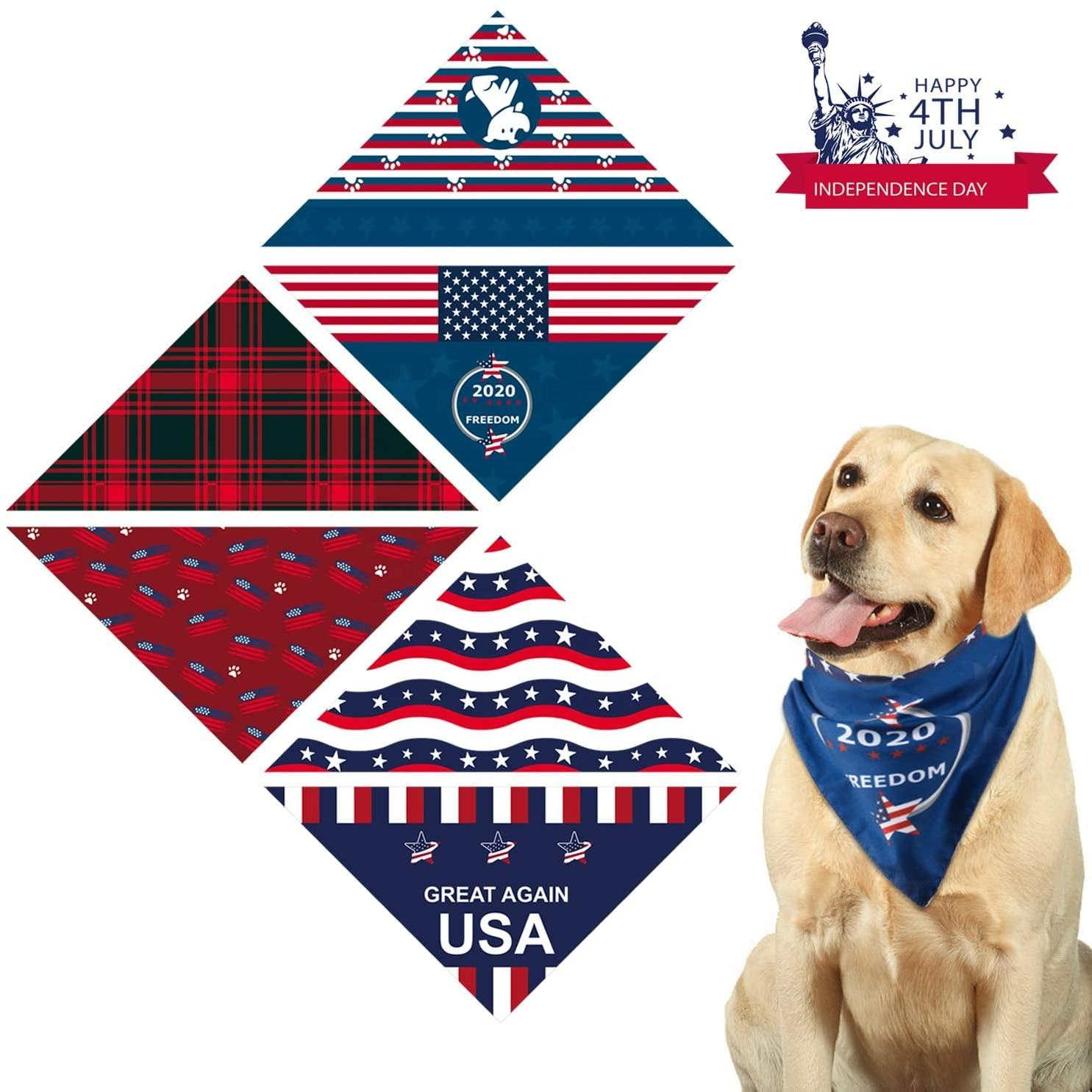 Stock Clearance Luxury Dog Scarves Pattern Woman Dog Scarf Bandana For Dog Girls And Boys