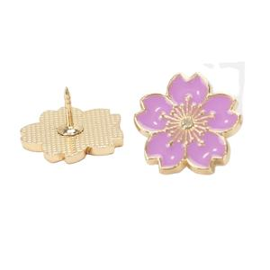 Manufacturer hard enamel flower mens for suit Custom Lapel pin