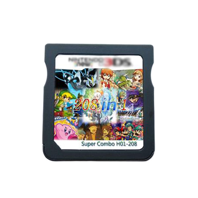2020 Hotselling Retro video games 208 IN 1 Games Cartridge Cards for Nintendo DS NDSL NDSi 3DS