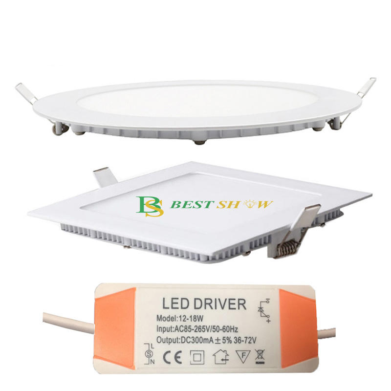 2 years warranty isolated or non-isolated 3w 4w 6w 9w 12w 15w 18w 24w round slim led panel light ic driver