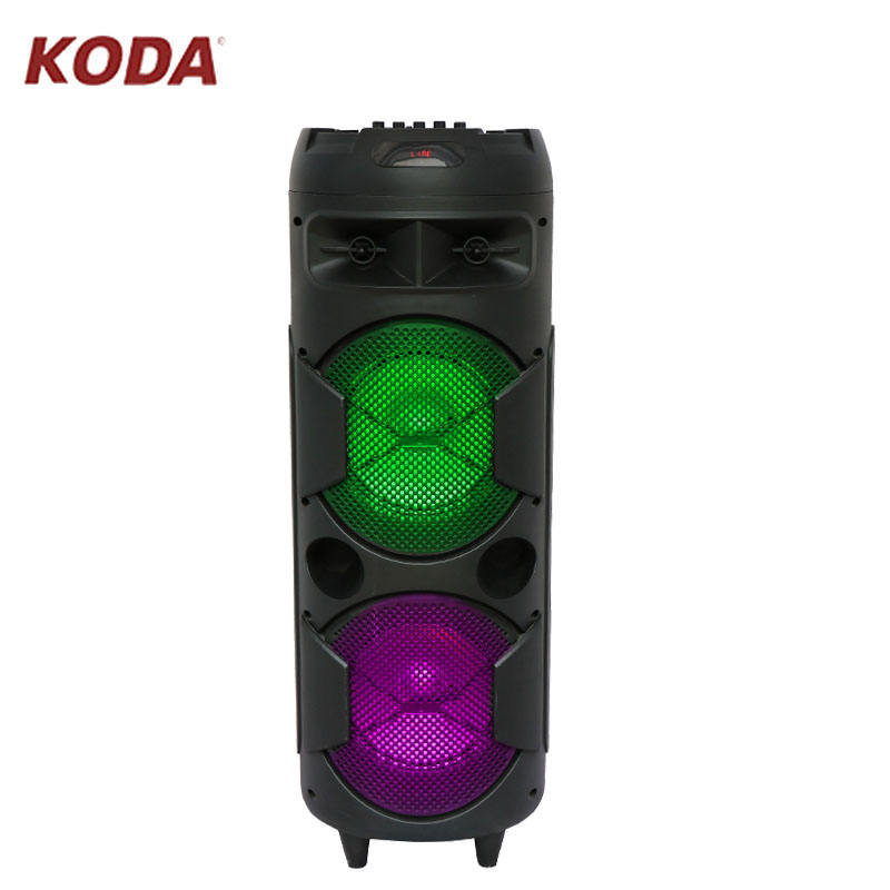 New Hotsale double 8inch sound speakers with led flashing light