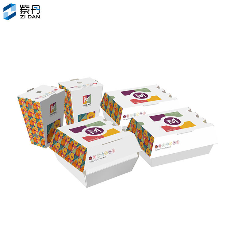 China Wholesale Takeaway Paper burger Box, customized Logo Paper printing box