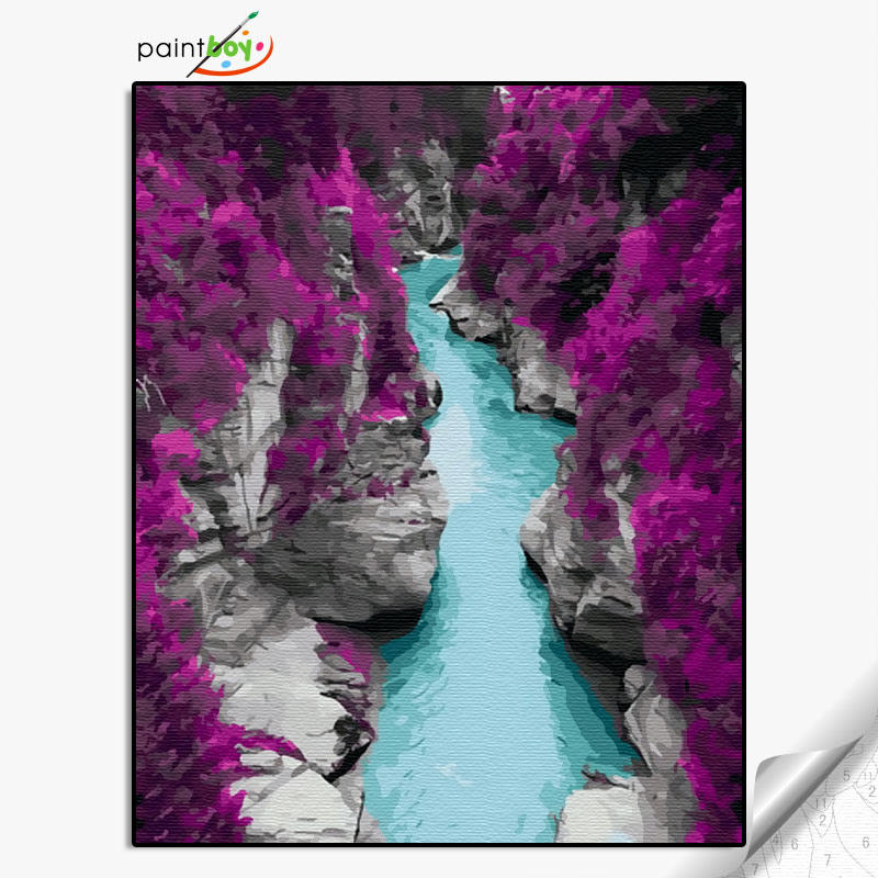 GX36081- 40*50 100% Handmade Popular and Modern Wall Art Abstract Canvas Oil Painting for river path picture design