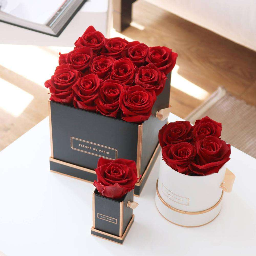 wholesale best selling small elegant cardboard paper rose Flower round/square Gift Box Package