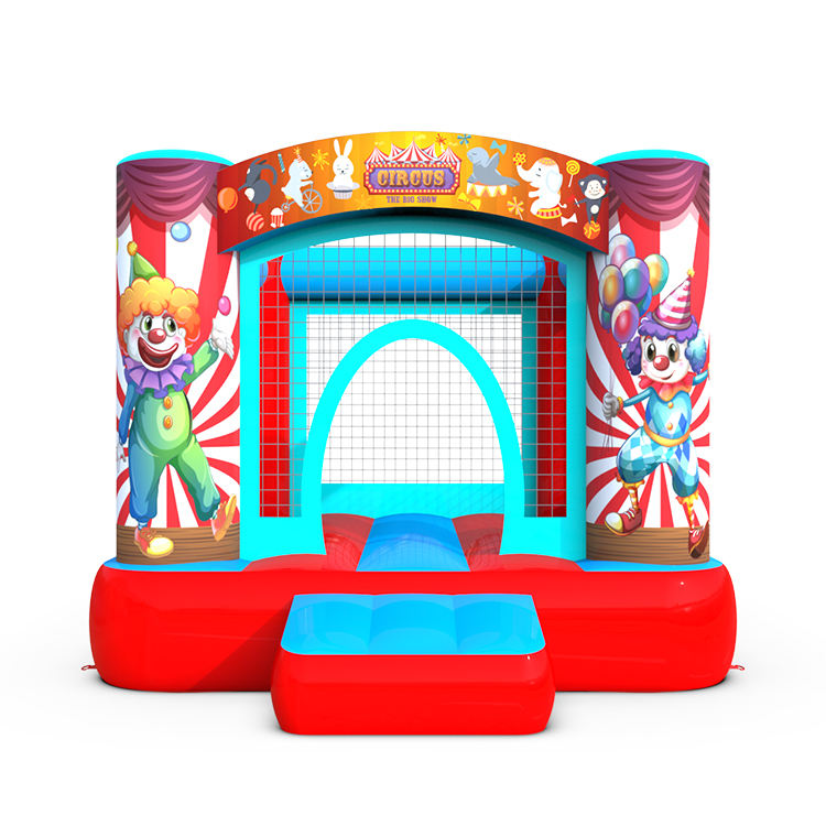 High Quality Circus Theme Inflatable Bouncer Jumping Castle for Kid