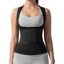 Womens 2Pieces Slimming Body Shaper Cami Sweat Vest Corset + Waist Trainer for Weight Loss