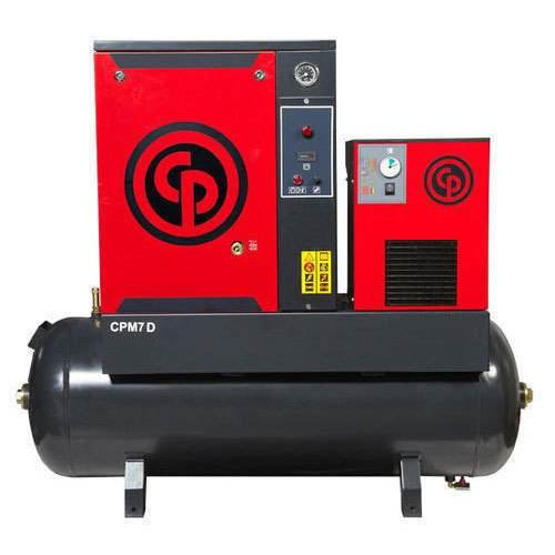 Stably 5.5 kw 8 bar rotary screw air compressor with tank for Chicago pneumatic CPM7 TM