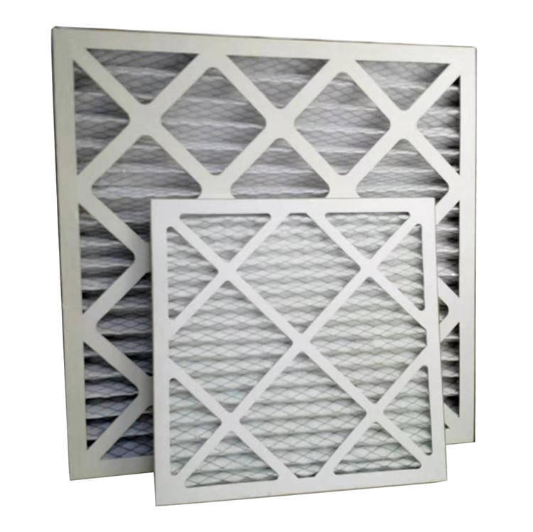 Industrial Air Filter Cardboard Frame Panel Folding Primary Air Filter