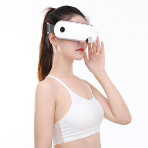 MP3 playing comfortable eye massage machine with hot compress and vibration