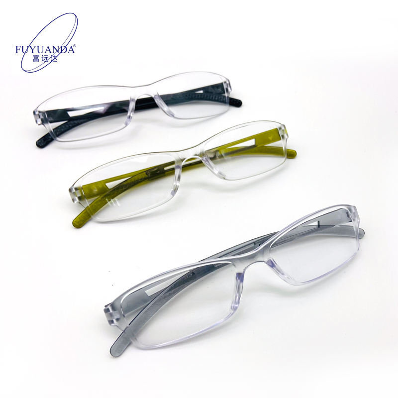 Hotselling Vintage Cheap Adjustable Plastic Reading Glasses Product PC temple