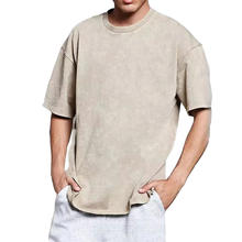 Manufacture Wholesale 100% cotton vintage stone wash oversized T Shirts mens causal acid washed Tee tshirt