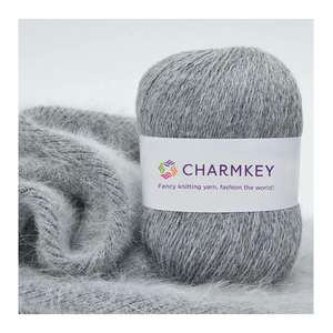 Charmkey Wholesale Multi Colors Long Hair Mink Cashmere blended Yarn For Hand knitting