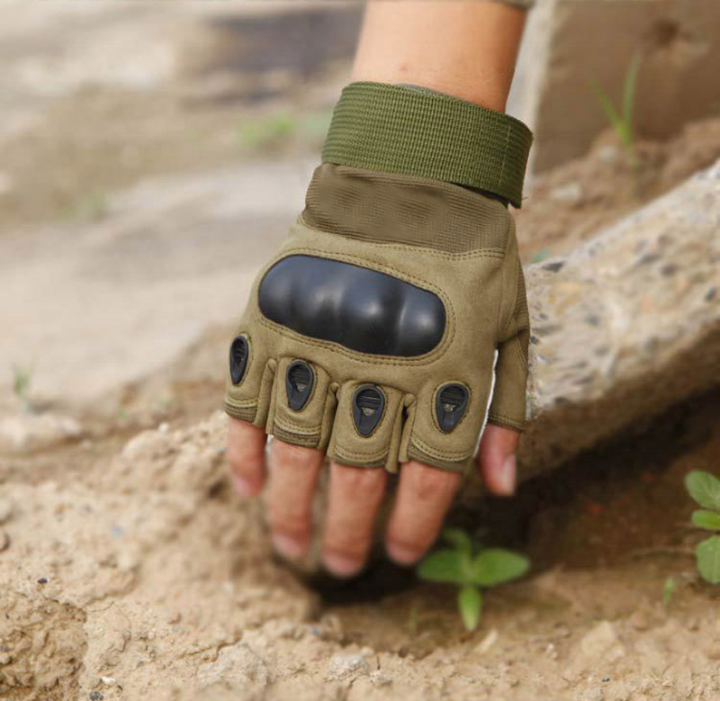 Military Tactical Gloves Hard Knuckle Gloves Half Finger Tactical Gloves Fit for Outdoor