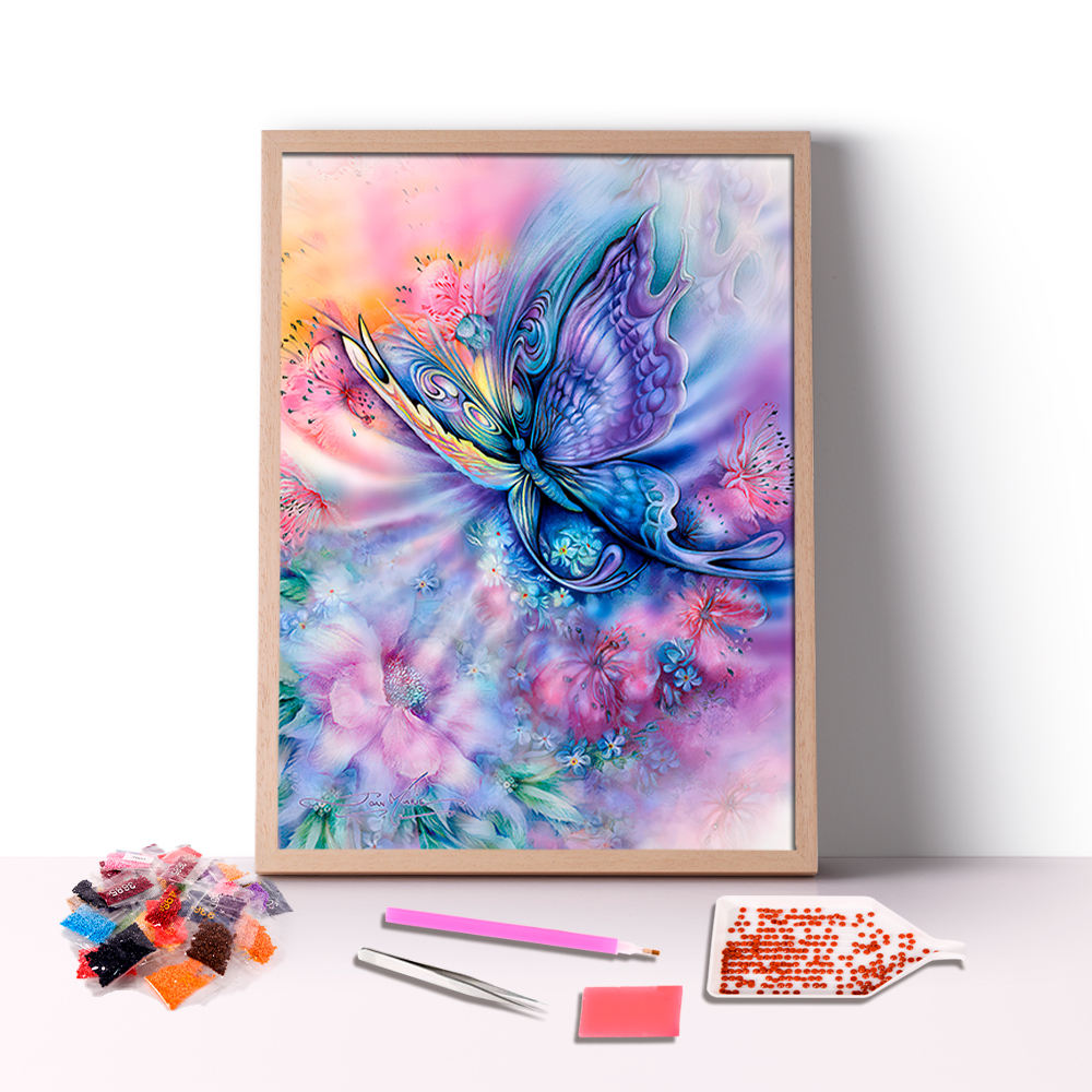 Abstract Custom Picture Full Drill Diy Mosaic Art Colorful Flower Butterfly Diamond Painting