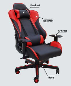 Plastic wanbao ofm leather gaming chair runda with low price