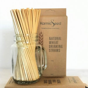 Wholesale custom biodegradable eco-friendly organic wheat drinking straw